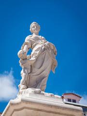 Venus Cupidon Statue sculpture Lisbonne place Chafariz das Janelas Verdes Machado
