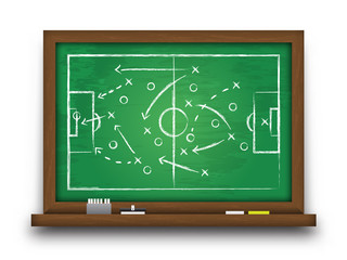 Soccer cup formation and tactic . Chalkboard with football game strategy  . Vector for international world championship tournament 2018 concept