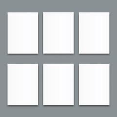 Set of Blank poster bi fold brochure mockup cover template