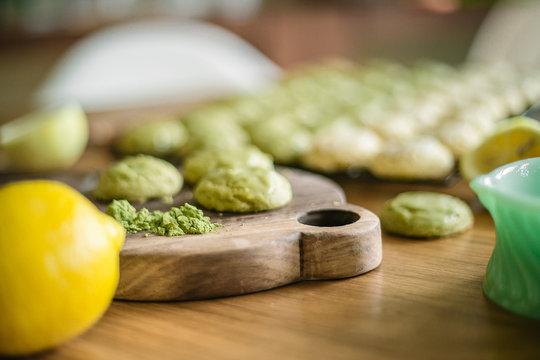 green tea matcha sugar cookies
