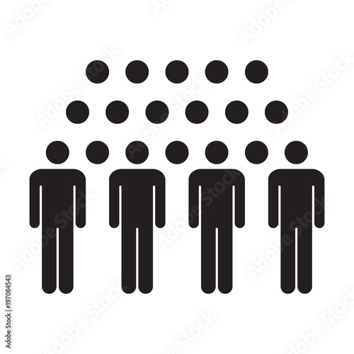 People Icon Vector Group Of Men Team Person Symbol For Business
