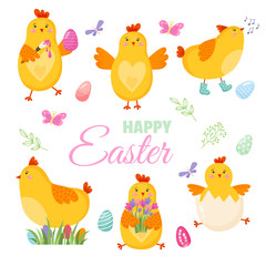 Colorful Happy Easter greeting card