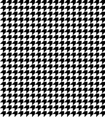 Abstract geometric background. Black and white houndstooth pattern vector. Classical checkered textile design. Vector seamless diagonal op art arrow pattern.