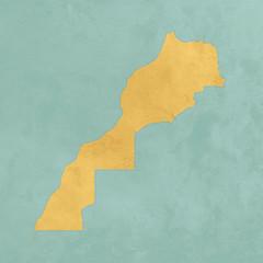Carte texturée du Maroc