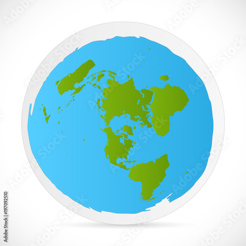 Flat Earth Map Download.Flat Earth Illustration Stock Image And Royalty Free Vector Files