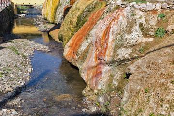 Hot spring spa resort in Sklene Teplice, Slovakia.