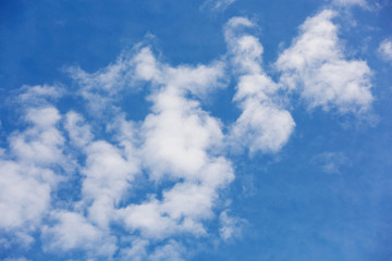 Light gentle cloud on a blue sky