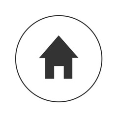 home vector web iconfor app and website