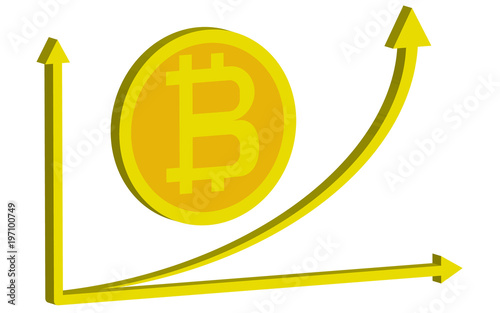 The Growing Rapid Yellow Growth Chart Bitcoin Up Coin Bitcoin