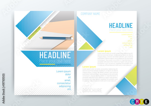 Company Profile Template | Abstract Background Poster Flyer Brochure Cover Design Layout