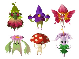 magical flower nature creatures