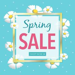 Spring Sale Flowers Retail Vector Illustration 1