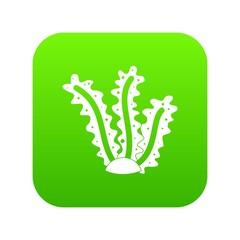 Seaweed icon digital green