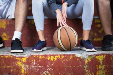 Urban basketball players