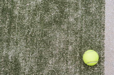 ball tennis on track with network and space for text