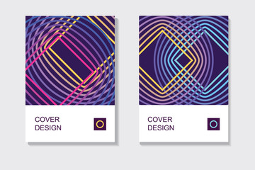 set of abstract guilloche geometric cover designs