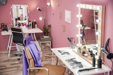 Modern interior of hairdressing salon