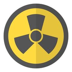 Radioactive icon, flat style