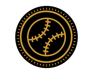 black baseball icon sport equipment tool utensil image vector