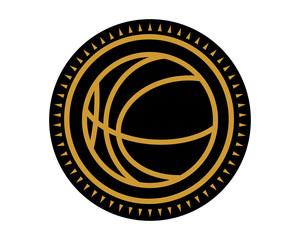 black basketball icon sport equipment tool utensil image vector