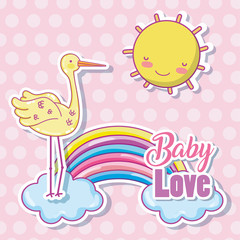 Baby love cartoon