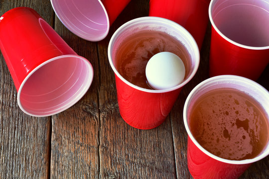 Red Plastic Beer Pong Cups