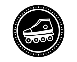 roller skates shoes icon sports equipment tool utensil image vector