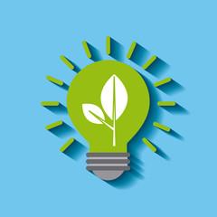 energy bulb light sustainable save symbol vector illustration
