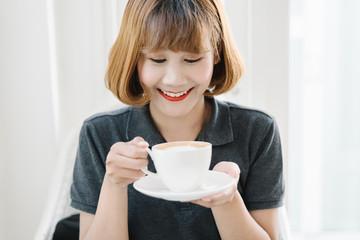Young Businesswoman Having a Coffee Break.
