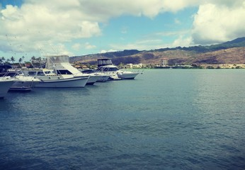 Yachts on the Ocean Waters by the Bay