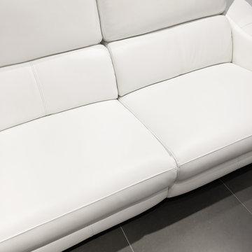 Beautiful classy white sofa