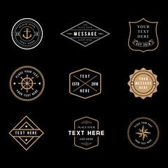 Vintage Badge Logos