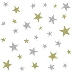 Christmas holiday background, seamless pattern with stars. Vector illustration.