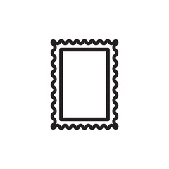 post stamp outlined vector icon. Modern simple isolated sign. Pixel perfect vector  illustration for logo, website, mobile app and other designs