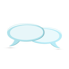 Colored flat icon, vector design with shadow. Two Speech bubbles for illustration for conversation, text and ads
