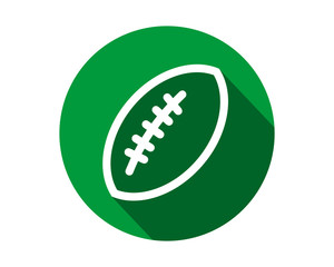 green rugby ball icon circle sports equipment tool utensil image vector