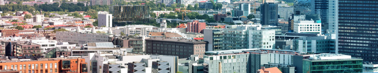 Wall Mural - View to the high buildings in the center of estonian capital. Aerial view to the city