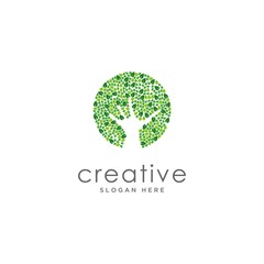 Eco Natural Letter Initial Logo Design Template