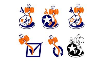 vector logo, set