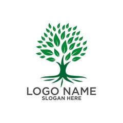 Tree logo ,People logo ,family logo ,green eco logo,Vector logo template