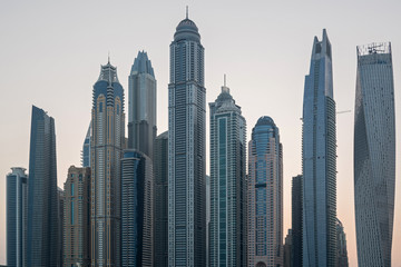 Skyline of of Dubai Marina, UAE