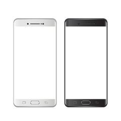 Smartphones black and white. Smartphone isolated on white background. Vector illustration