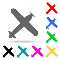 view of the old plane from above icon. Elements of Airport multi colored icons. Premium quality graphic design icon. Simple icon for websites, web design, mobile app, info graphics