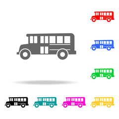 school bus icon. Elements of School and study multi colored icons. Premium quality graphic design icon. Simple icon for websites, web design, mobile app, info graphics
