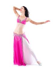 04a99383d04b Beautiful Belly Dance girl in green baladi costume traditional ...