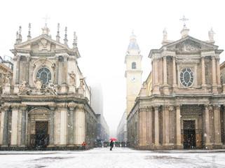 Torino piazza San Carlo in Inverno