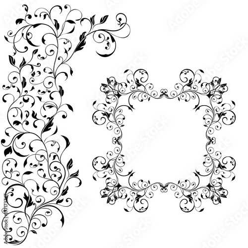 Floral decorative frame with background ornament wedding invitation floral decorative frame with background ornament wedding invitation decoration stopboris Gallery