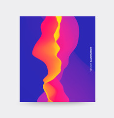 Cover design template. Abstract background. Futuristic technology style. Vector illustration with motion effect.