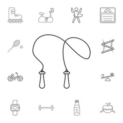 The skipping rope icon. Jumping-rope symbol. Detailed set of gym and fitness icons. Premium quality graphic design. One of the collection icons for websites, web design, mobile app
