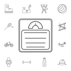 bathroom weight scale icon. Detailed set of gym and fitness icons. Premium quality graphic design. One of the collection icons for websites, web design, mobile app